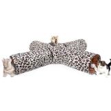 PAWZ Road Katzentunnel im Leoparden Design 4 Wege, Faltbar mit Spielball für Katzen Kätzchen Durchmesser:25cm - 1